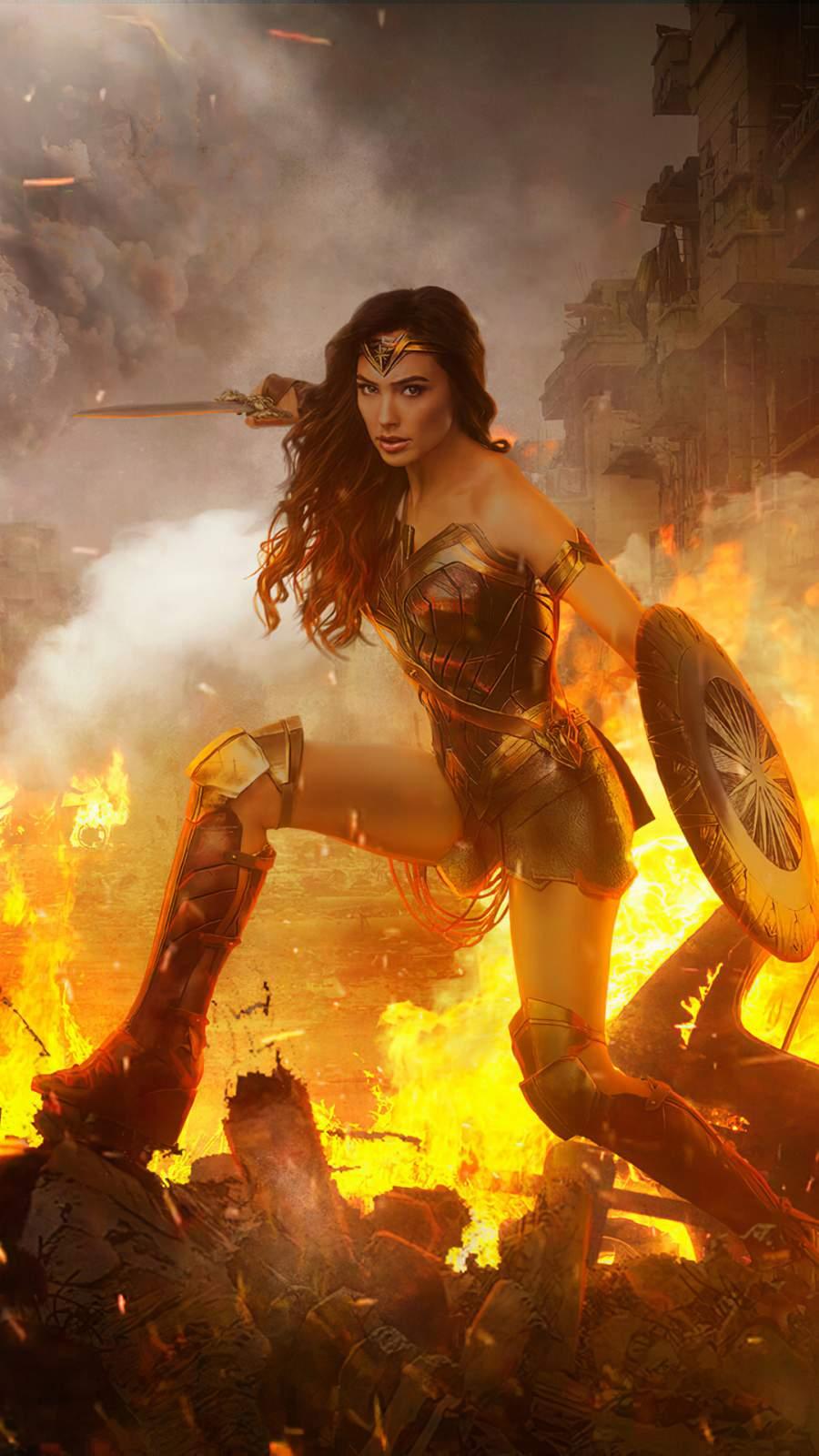 Wonder Woman HD iPhone Wallpaper