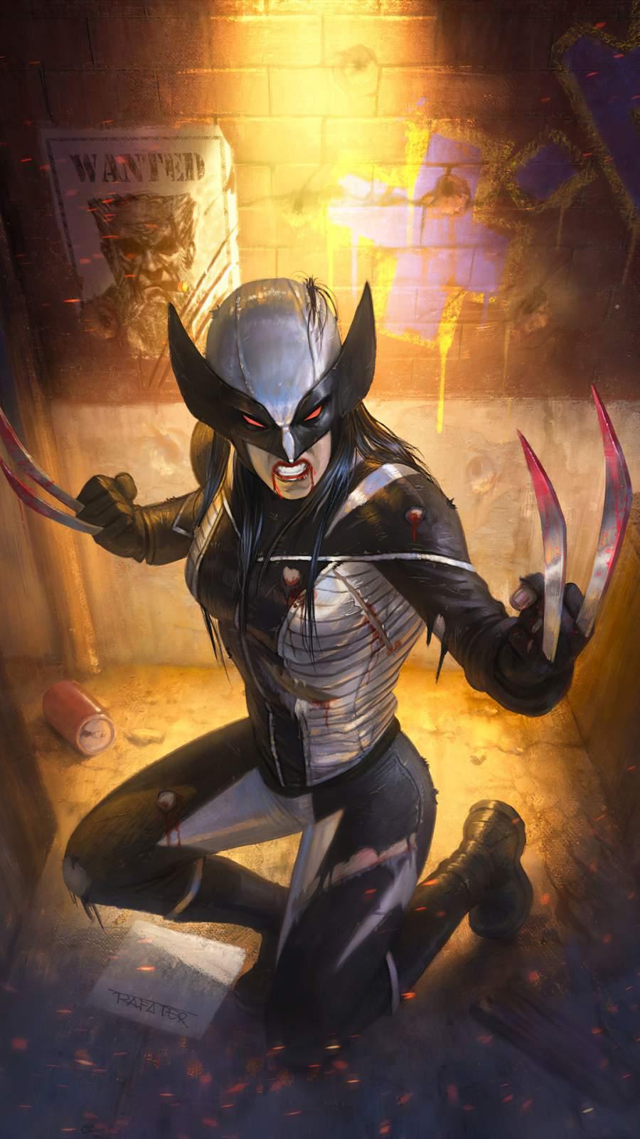X23 Wolverine Artwork iPhone Wallpaper