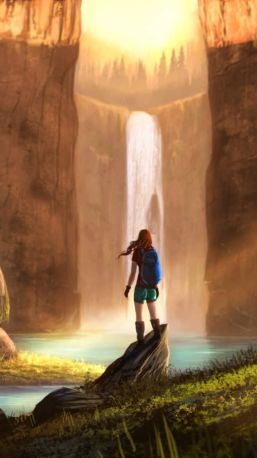 Adventure Girl Art iPhone Wallpaper