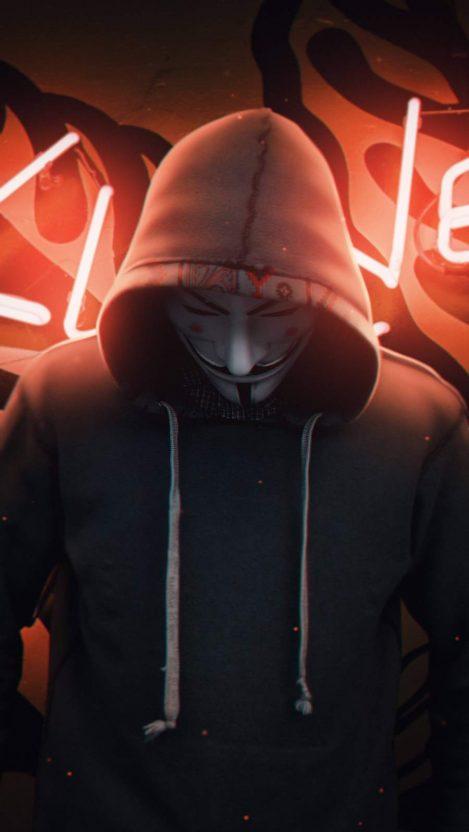 Anonymity iPhone Wallpaper