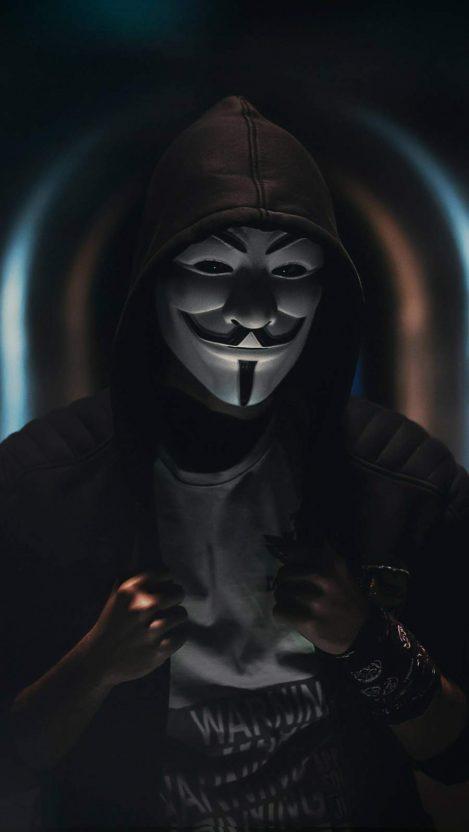 Anonymous Vendetta Mask iPhone Wallpaper
