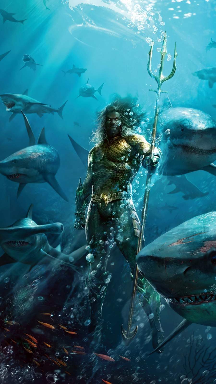 Aquaman Art iPhone Wallpaper