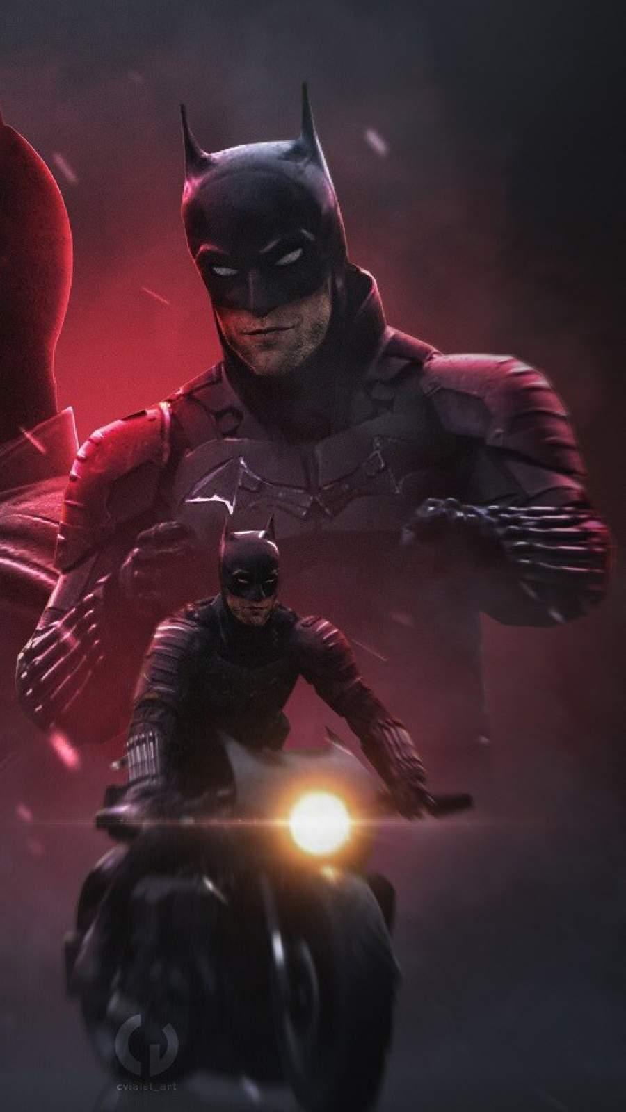 Batman Bike iPhone Wallpaper