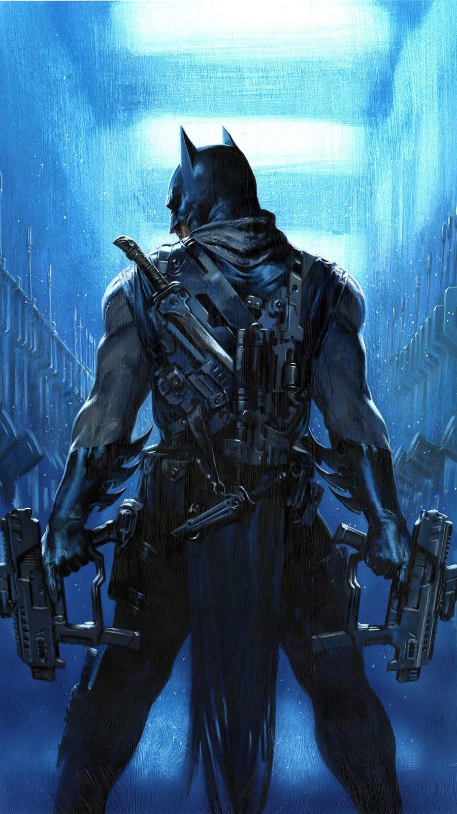 Batman Guns iPhone Wallpaper