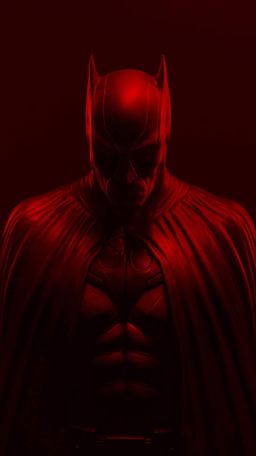 Batman Red iPhone Wallpaper