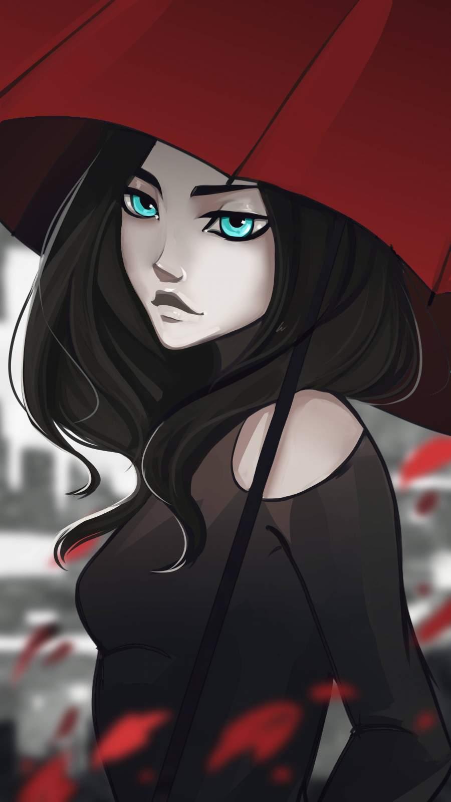Blue Eyes Anime Girl iPhone Wallpaper