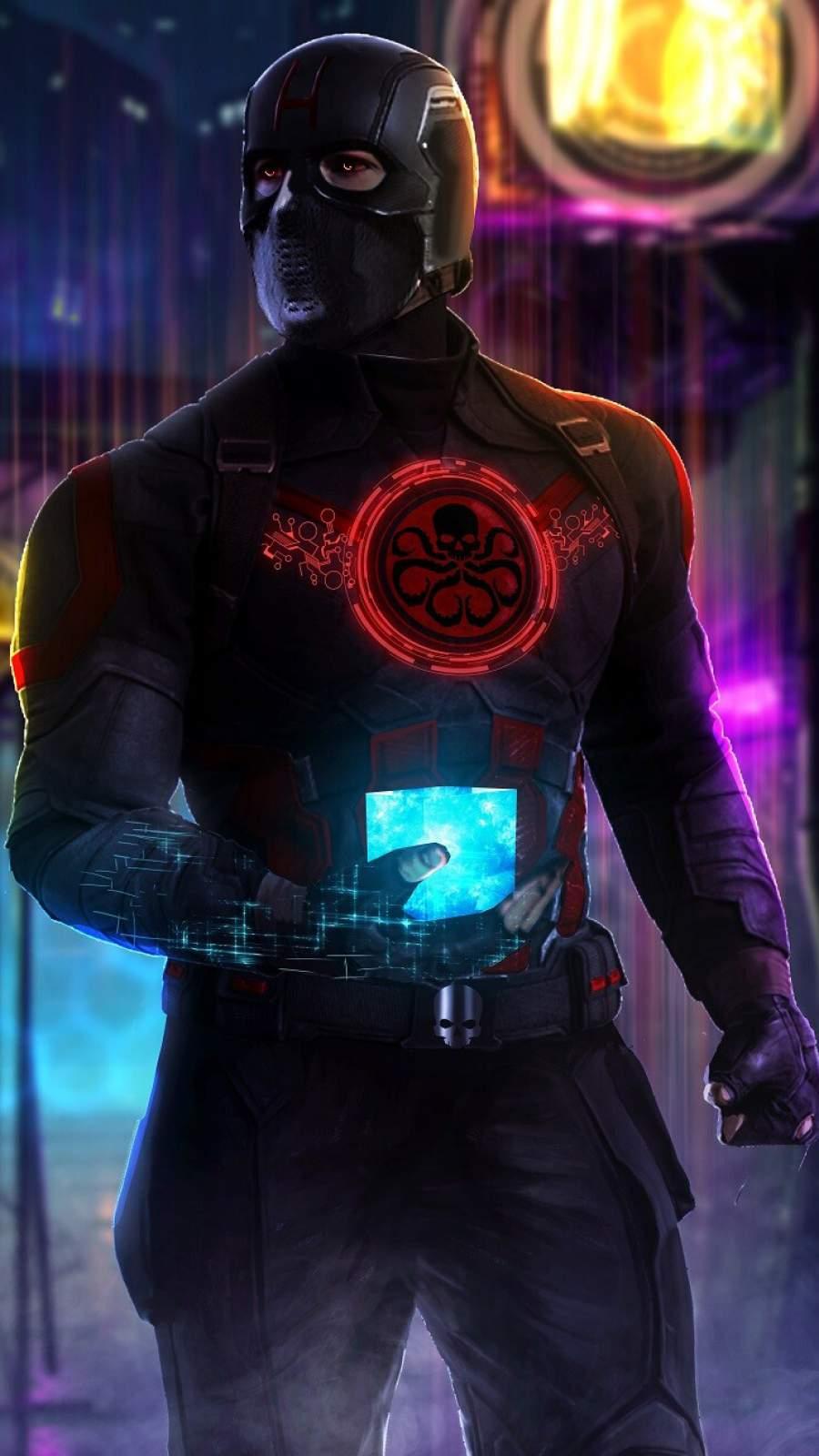 Captain America Hydra iPhone Wallpaper