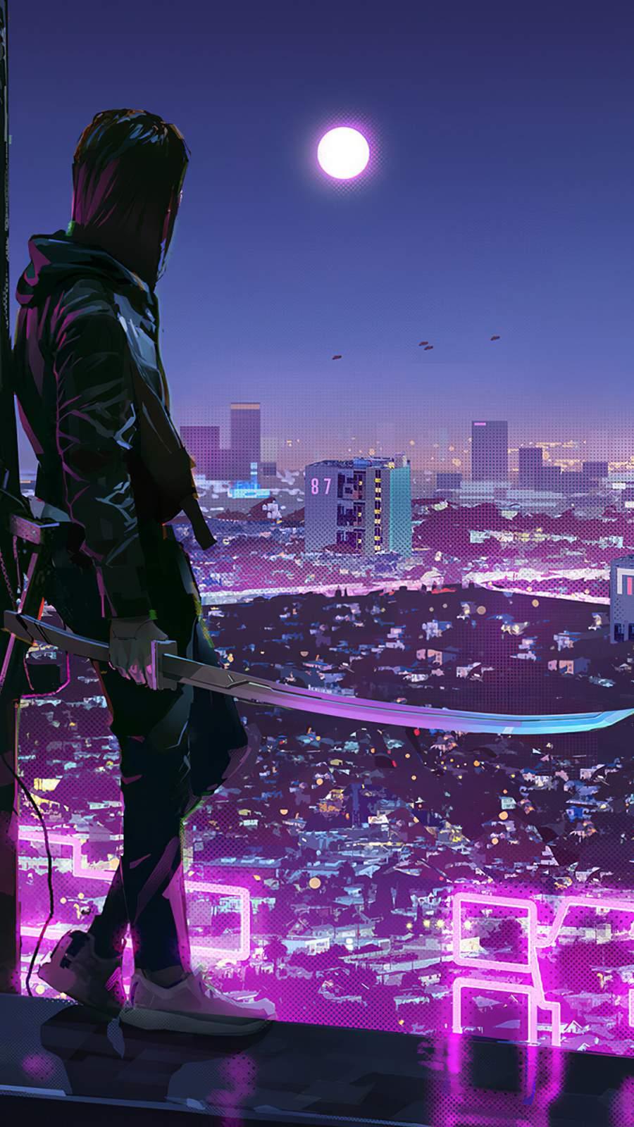 City Ninja iPhone Wallpaper