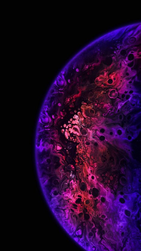 Colorful Sphere Planet iPhone Wallpaper