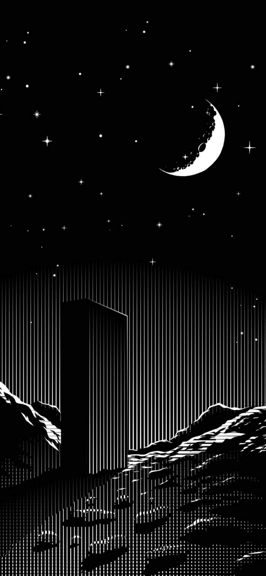 Dark Minimalism iPhone Wallpaper
