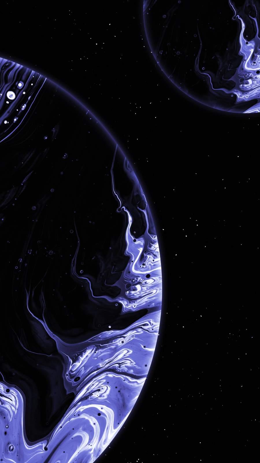 Dark Planet iPhone Wallpaper