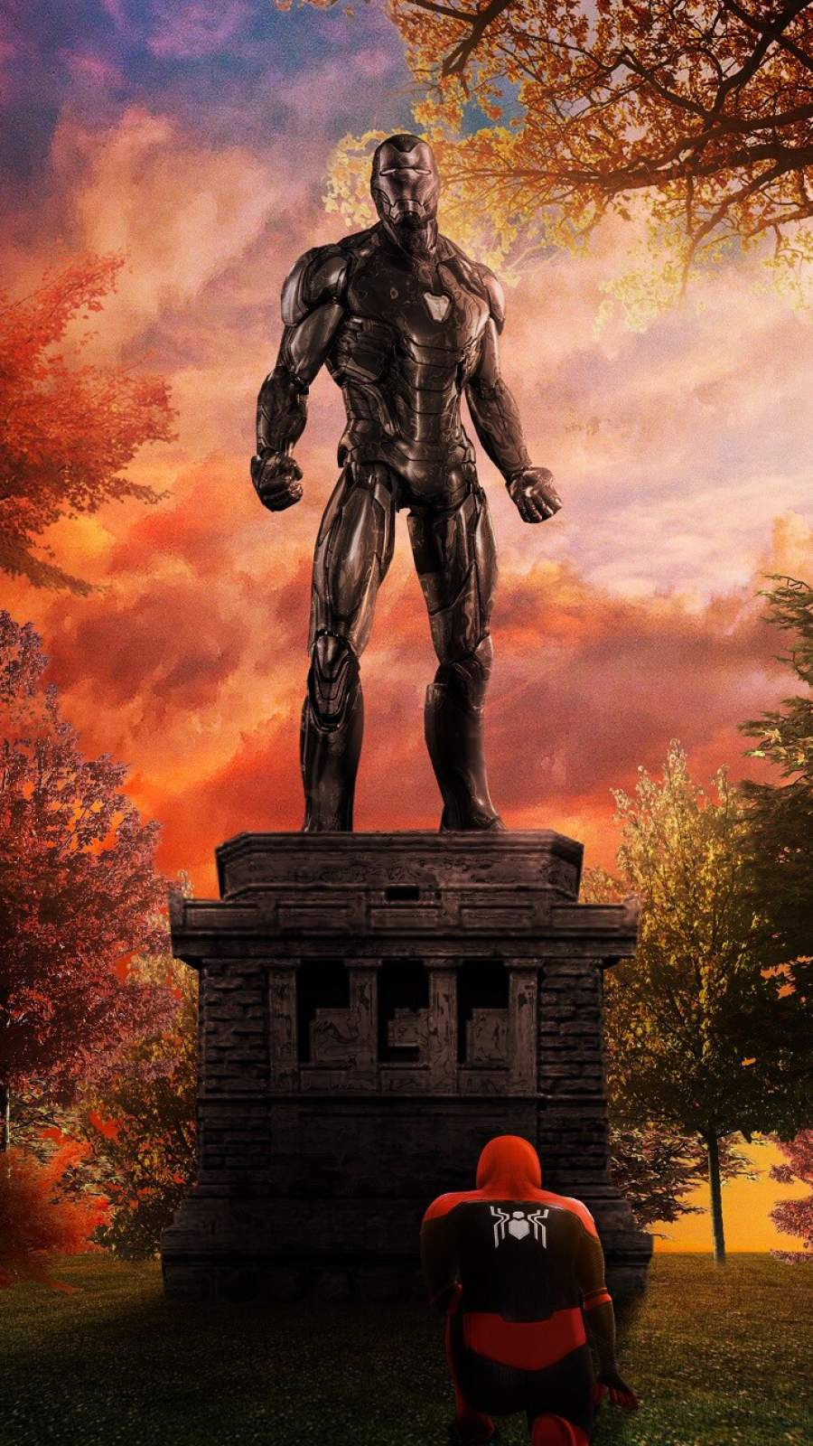 Iron Man Cementry iPhone Wallpaper