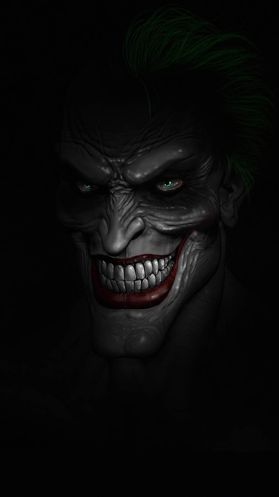 Joker Dark Minimalism iPhone Wallpaper