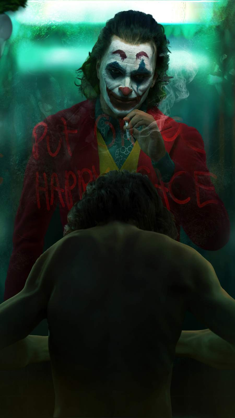 Joker vs Arthur iPhone Wallpaper