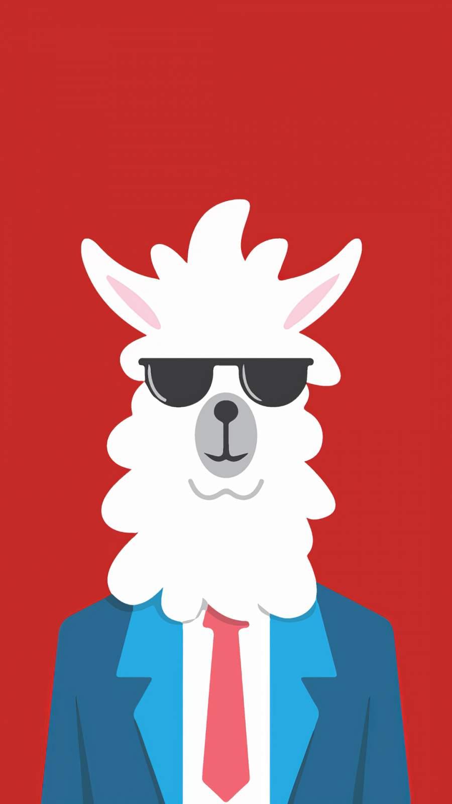 Llama Portait iPhone Wallpaper