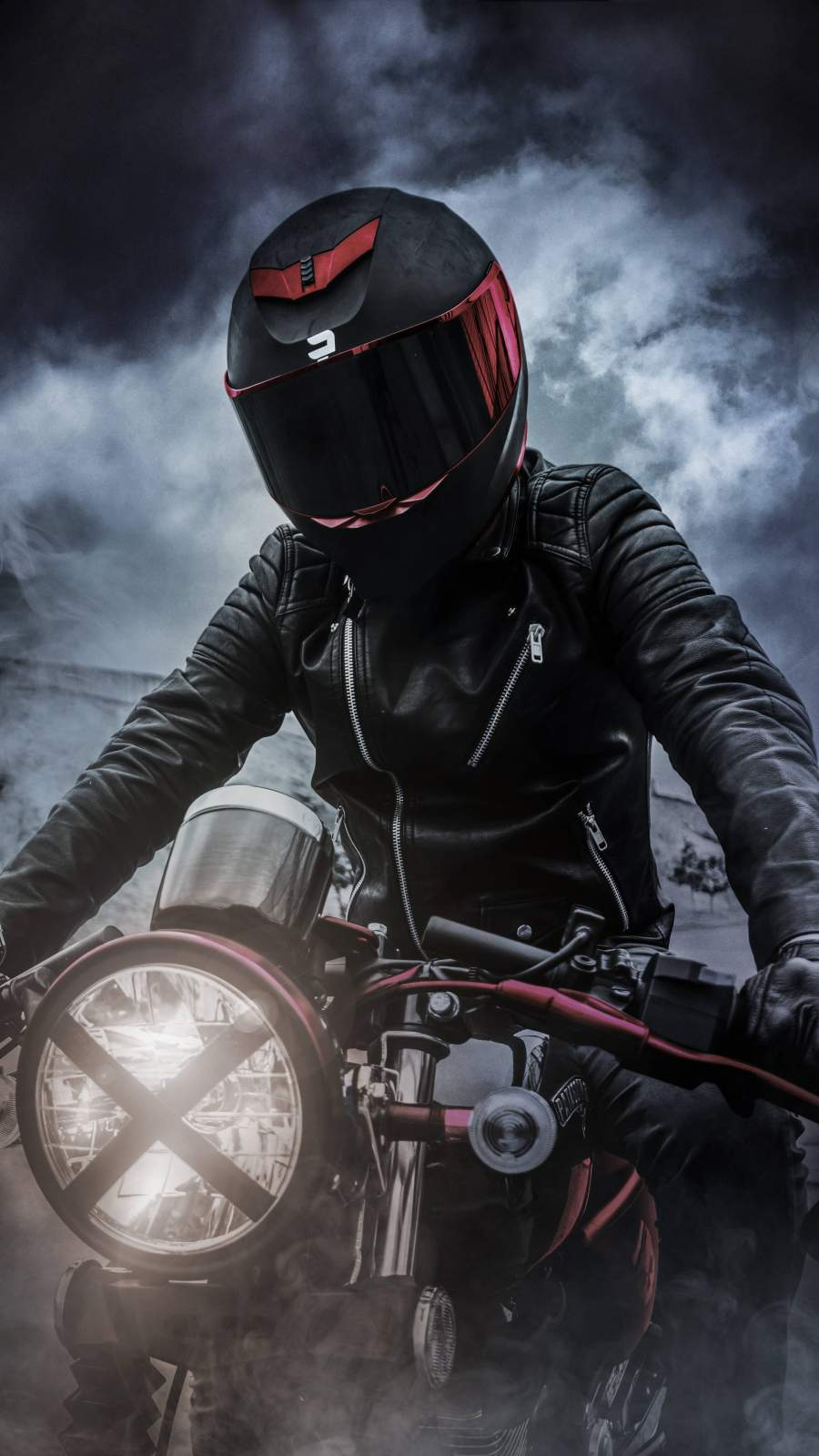 Motorcycle Rider iPhone Wallpaper