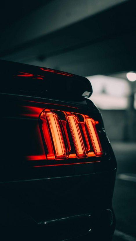 Mustang Lights iPhone Wallpaper