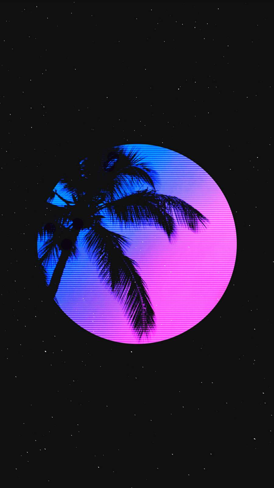 Palm and Moon iPhone Wallpaper