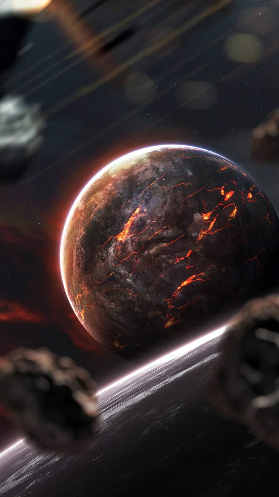 Planet Malfunction iPhone Wallpaper