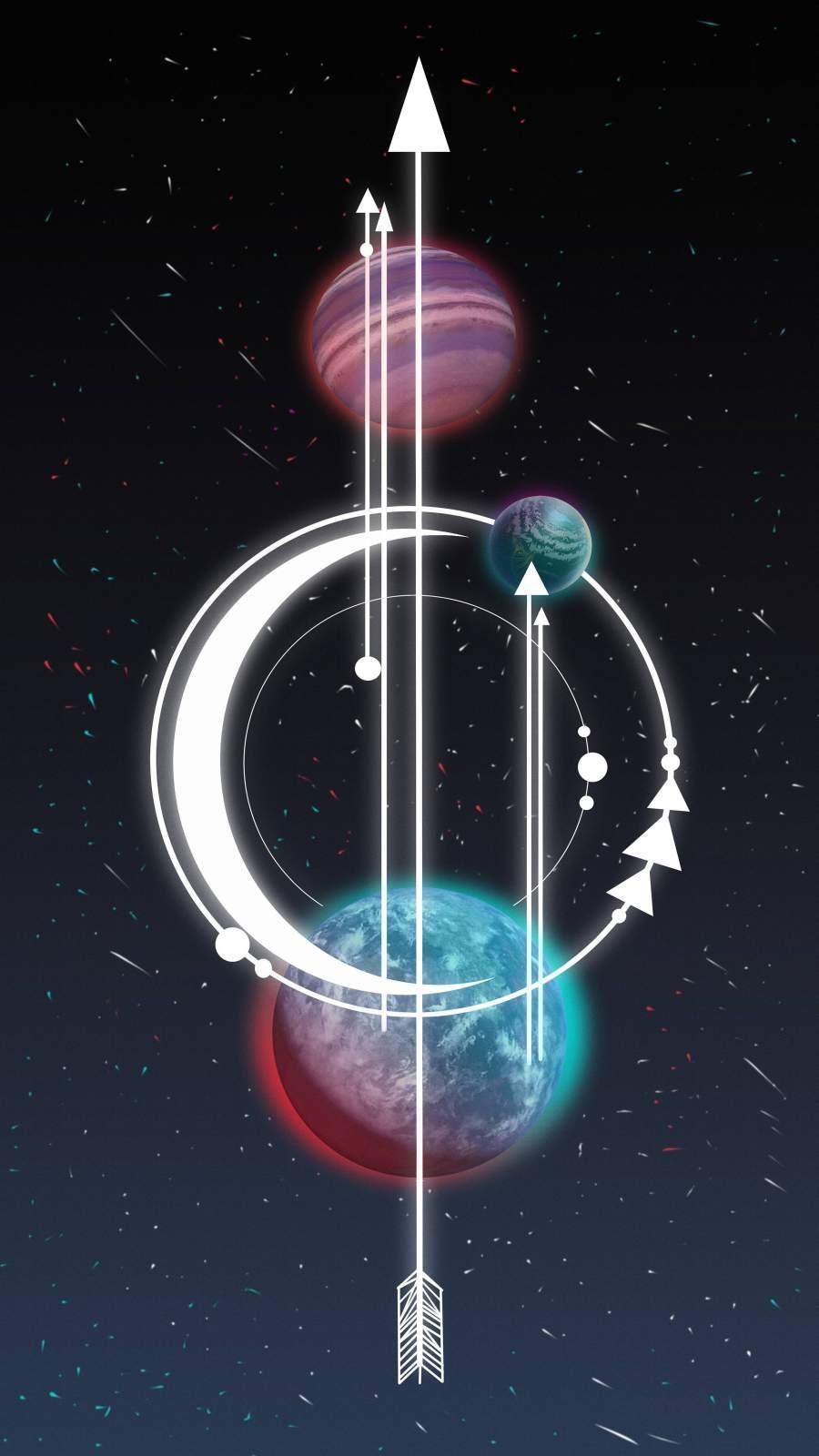 Planets Art iPhone Wallpaper