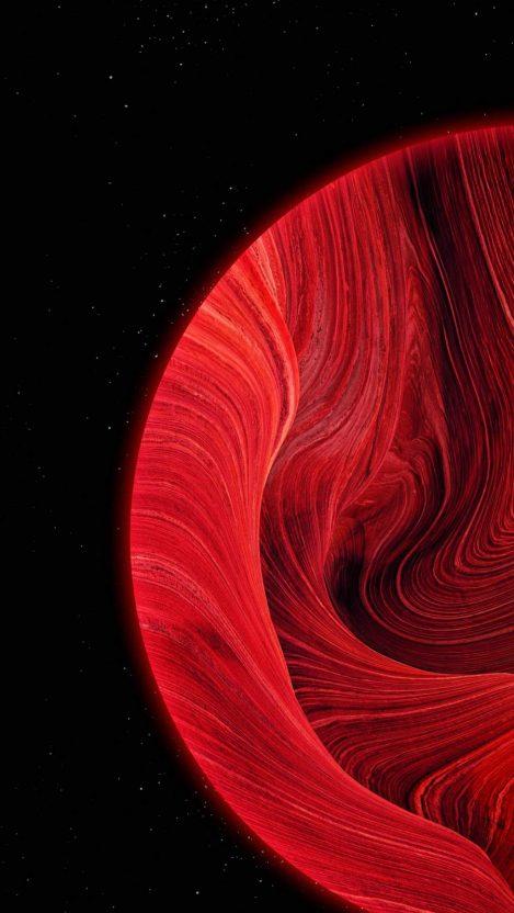 Red Sphere iPhone Wallpaper