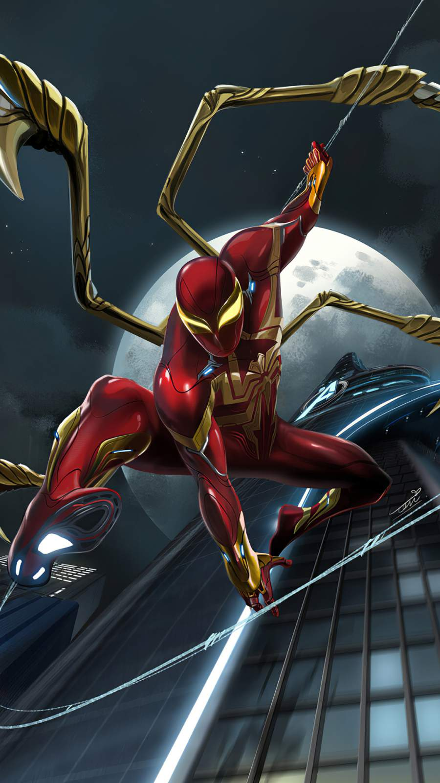 Red Spider Iron Suit iPhone Wallpaper