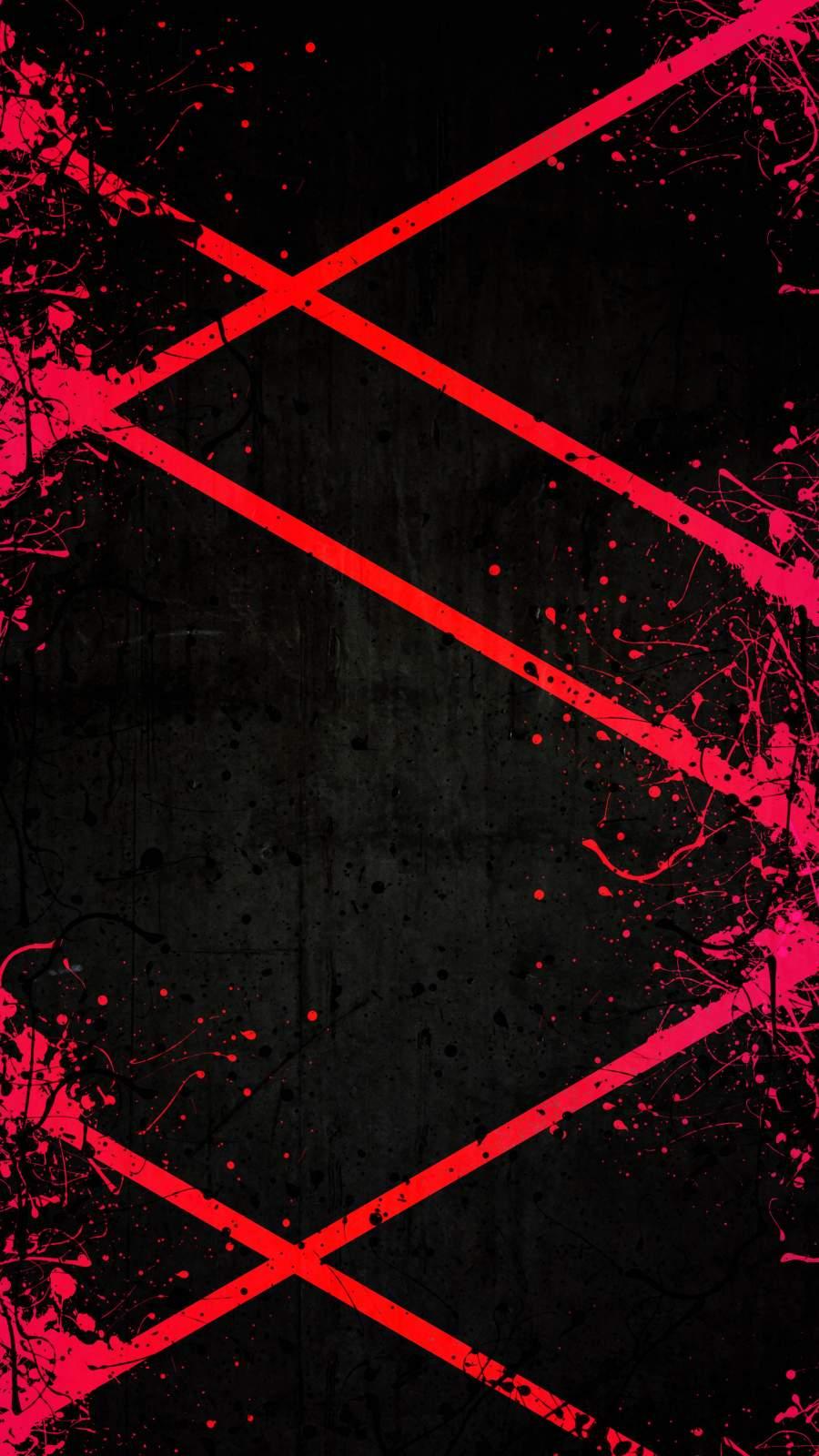 Red Splash iPhone Wallpaper