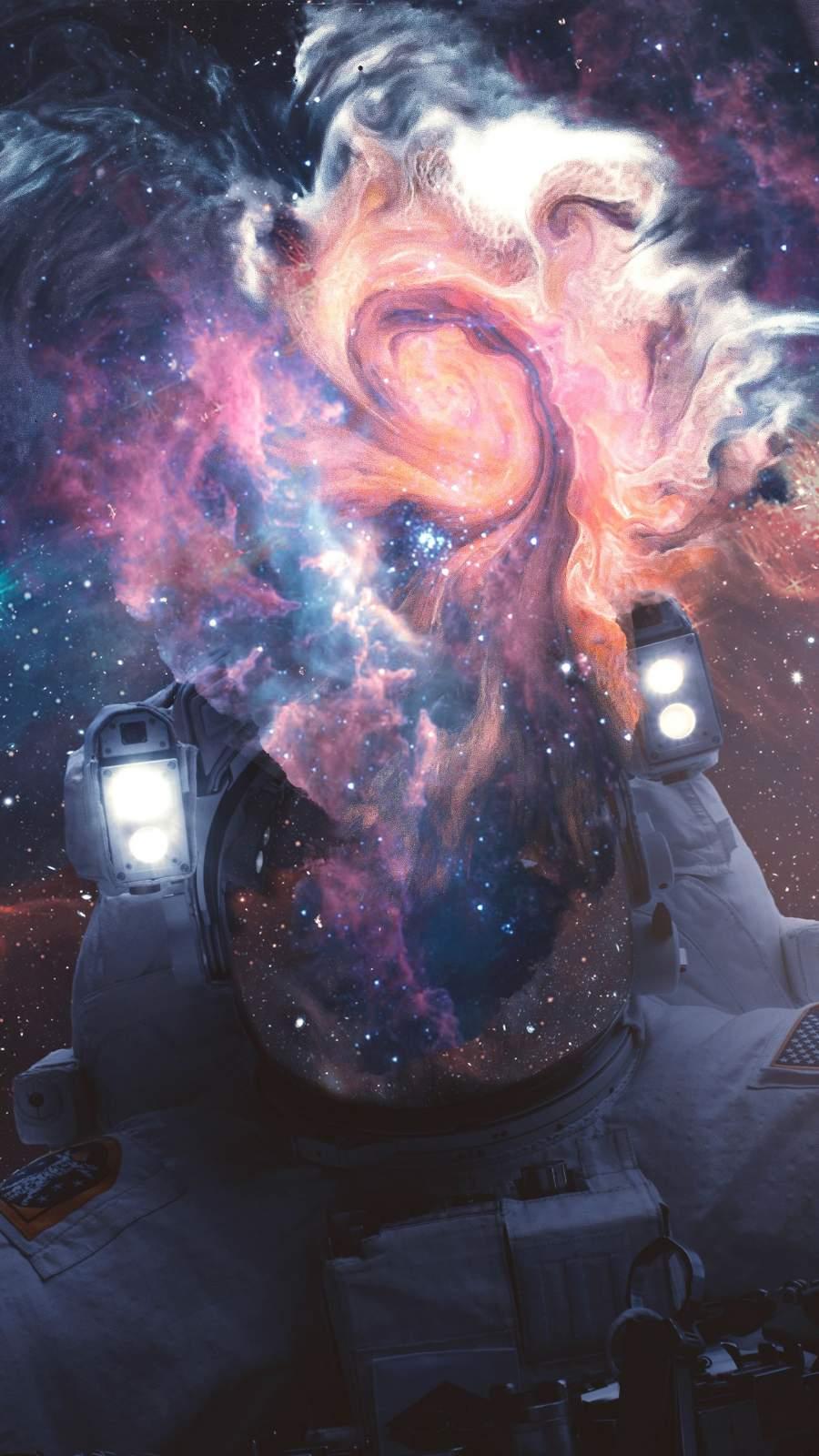 Spacetronaut iPhone Wallpaper