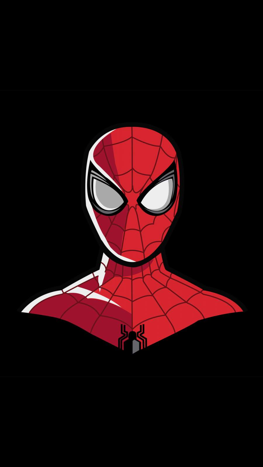 Spiderman 4k Minimal iPhone Wallpaper