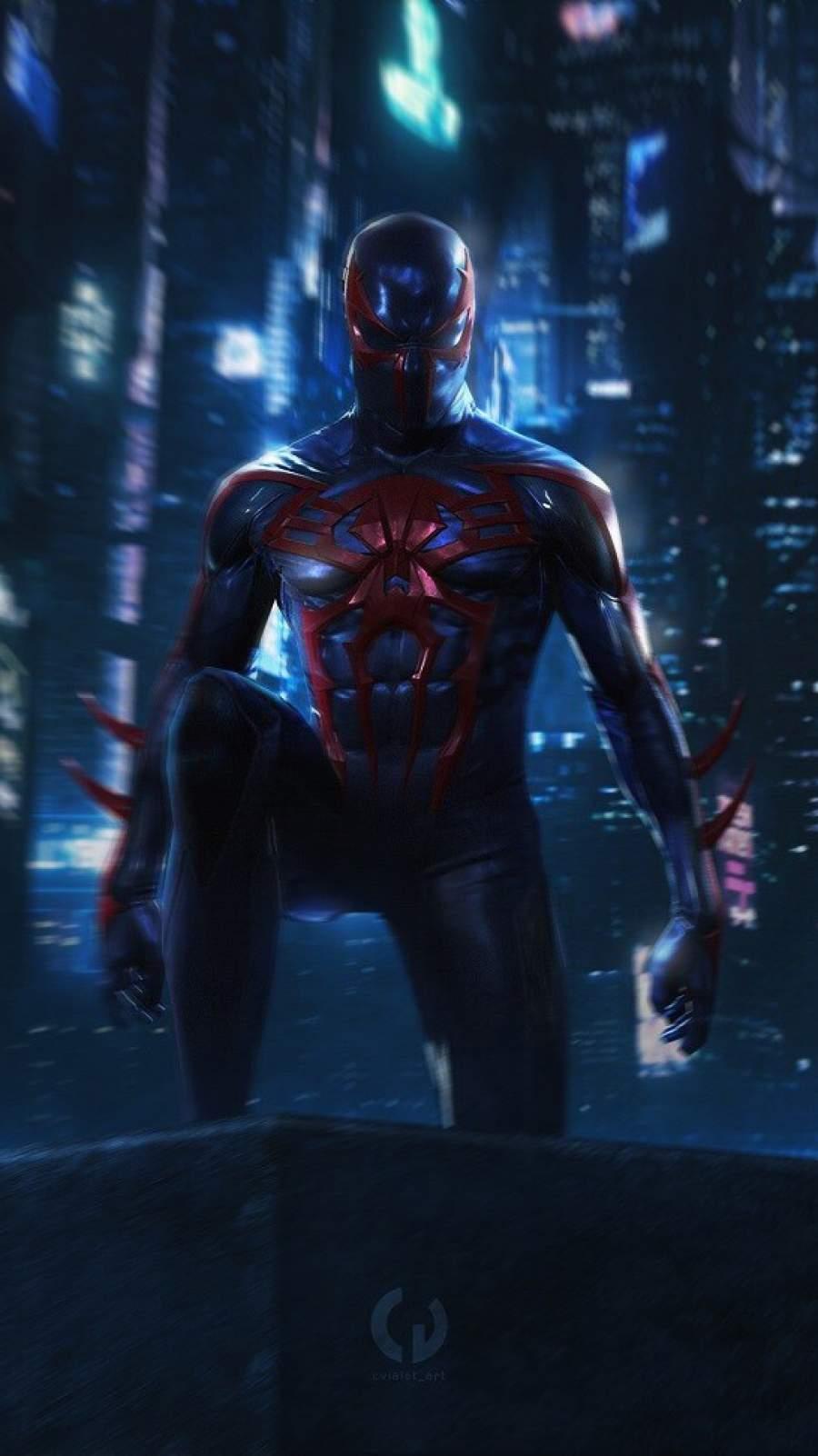 Spiderman Future iPhone Wallpaper