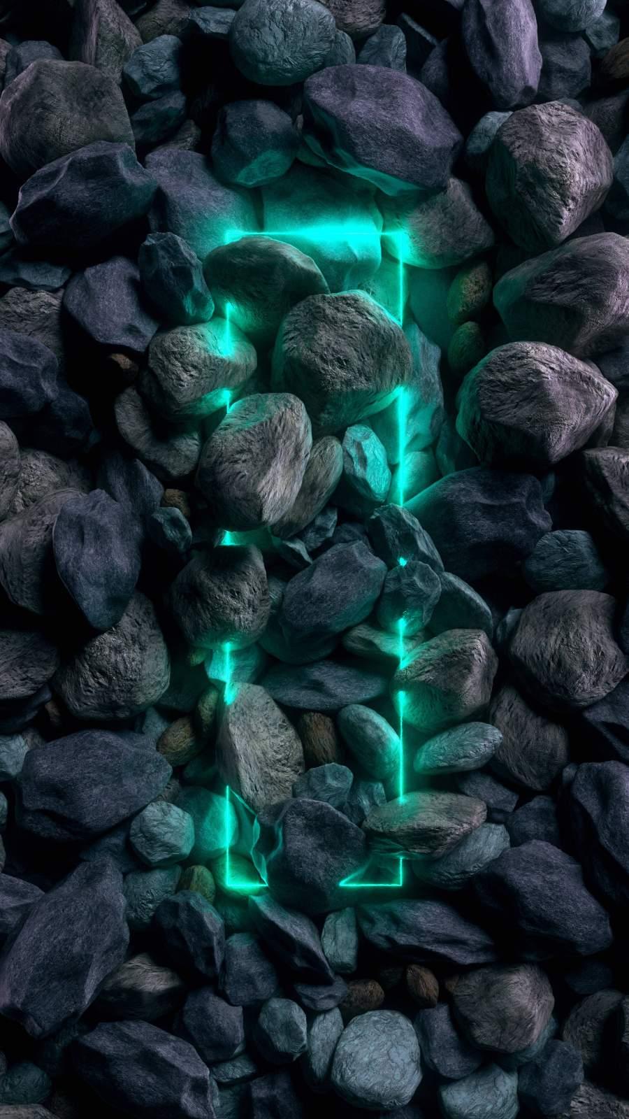 Stone Neon iPhone Wallpaper