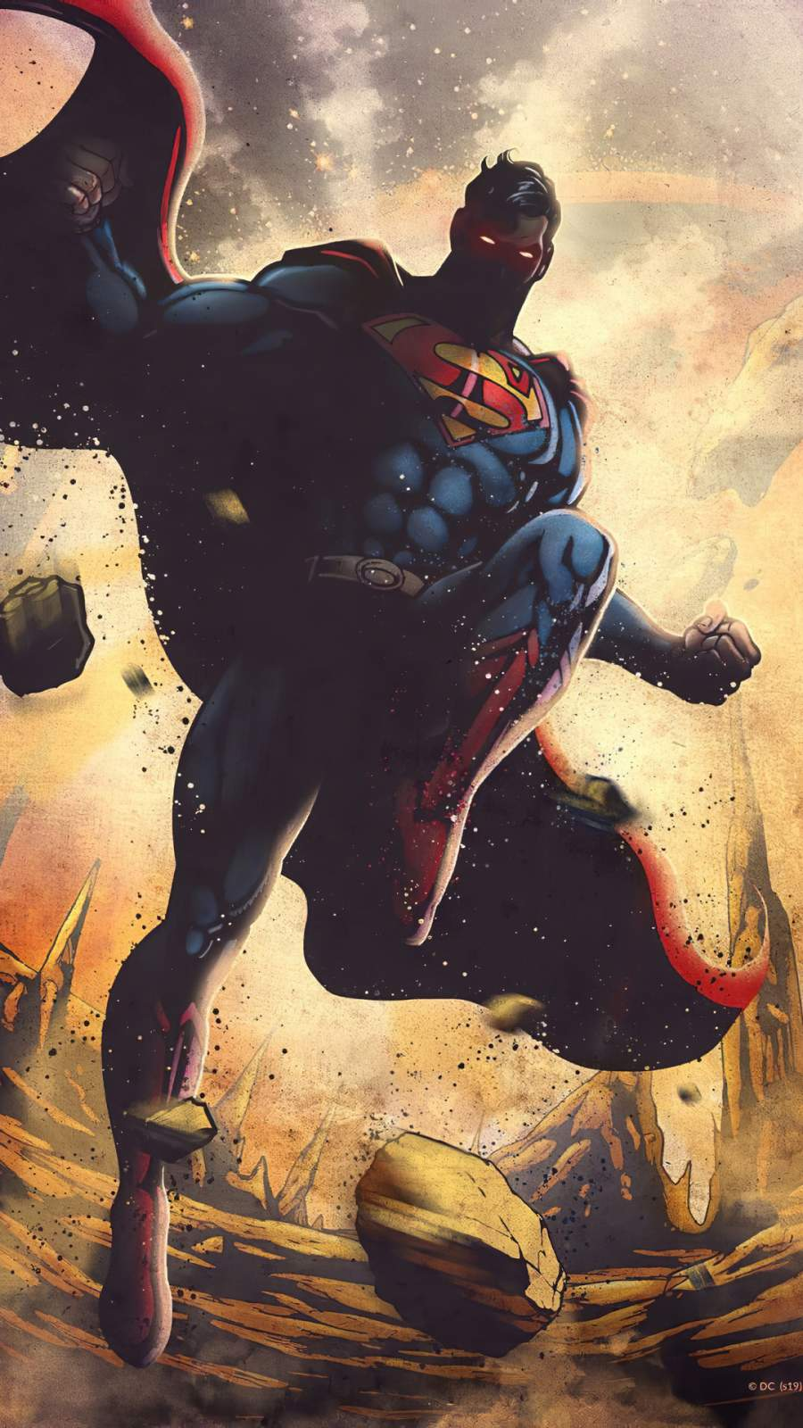 Superman Art iPhone Wallpaper