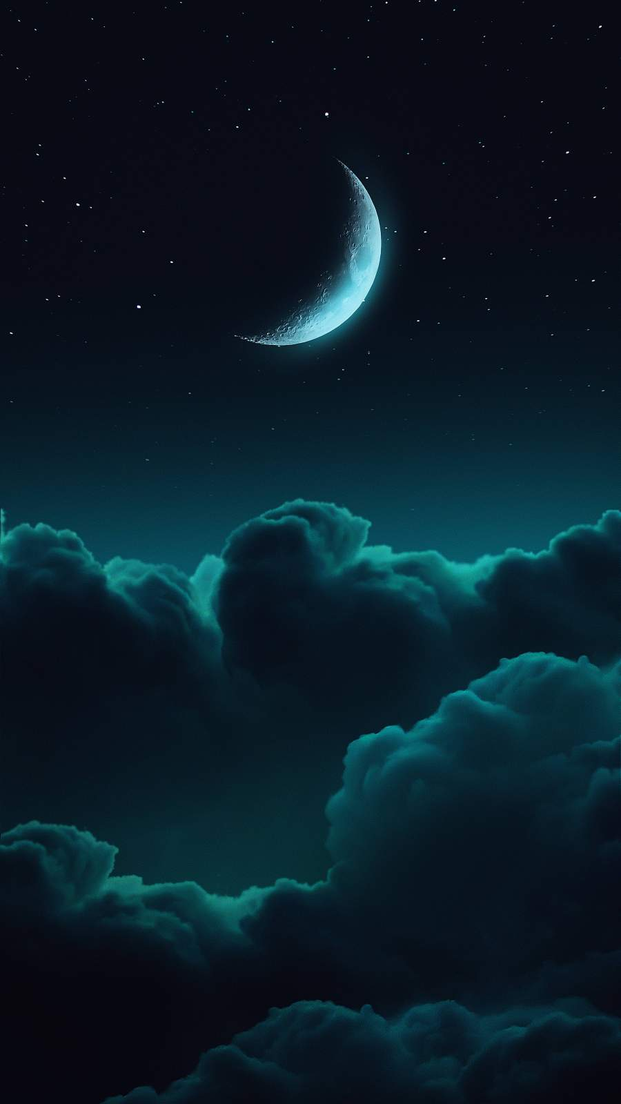 Teal Clouds iPhone Wallpaper