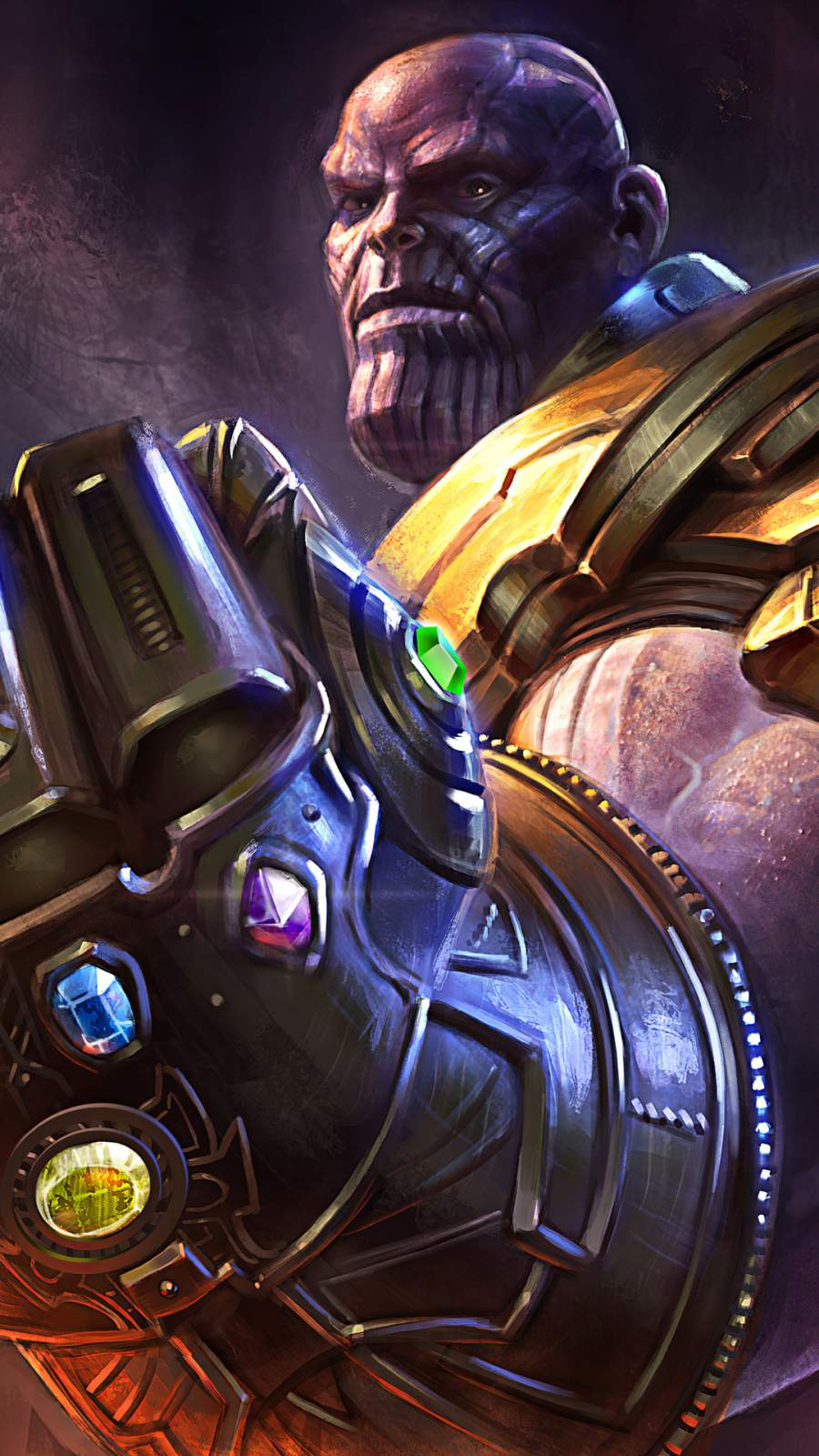 Thanos Artwork iPhone Wallpaper