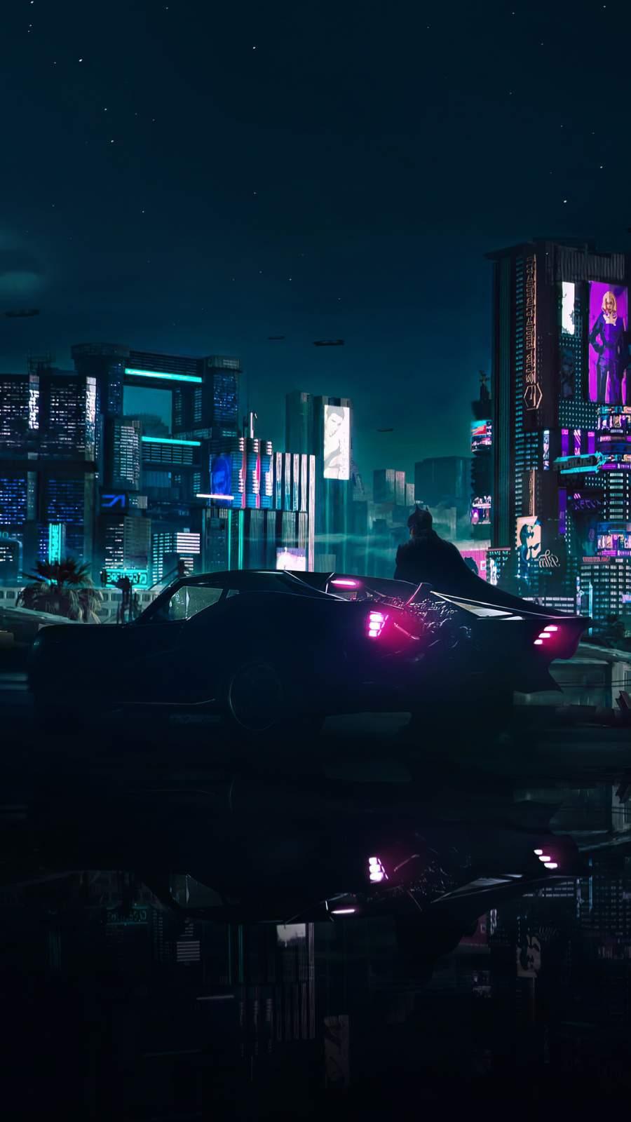 The Batman Batmobile iPhone Wallpaper