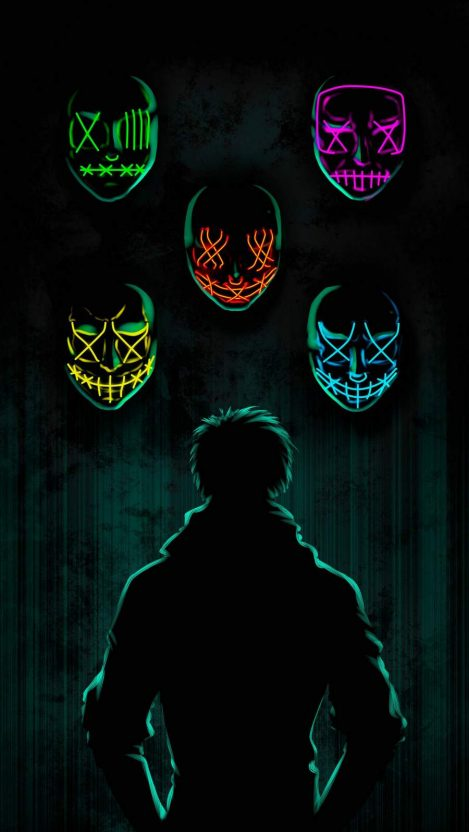 The Masks iPhone Wallpaper