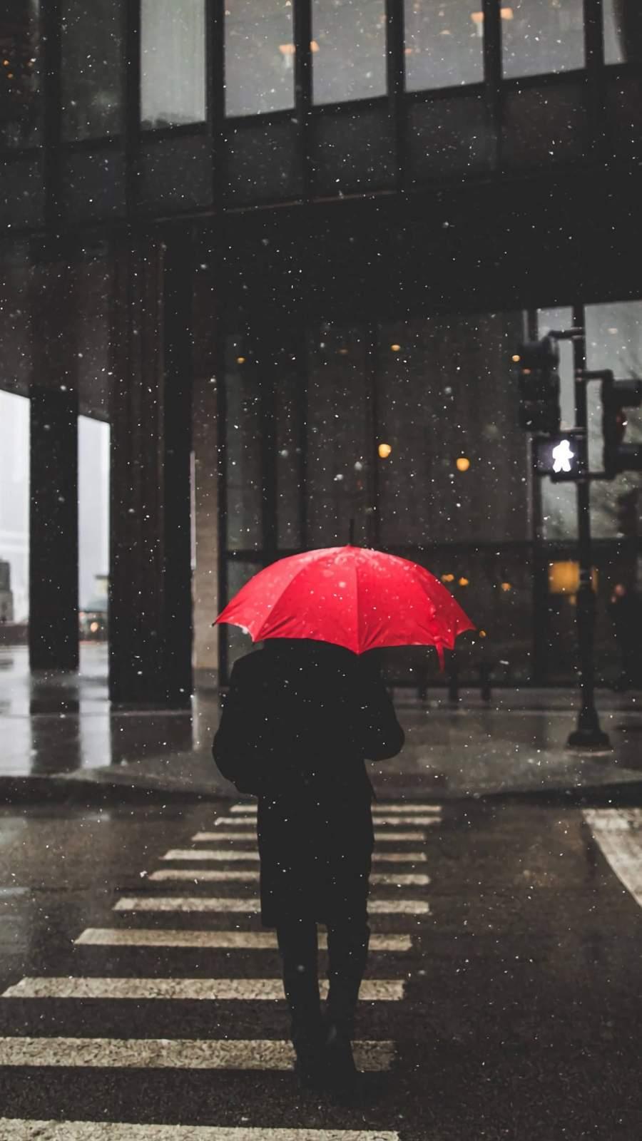 Umbrella Rain iPhone Wallpaper