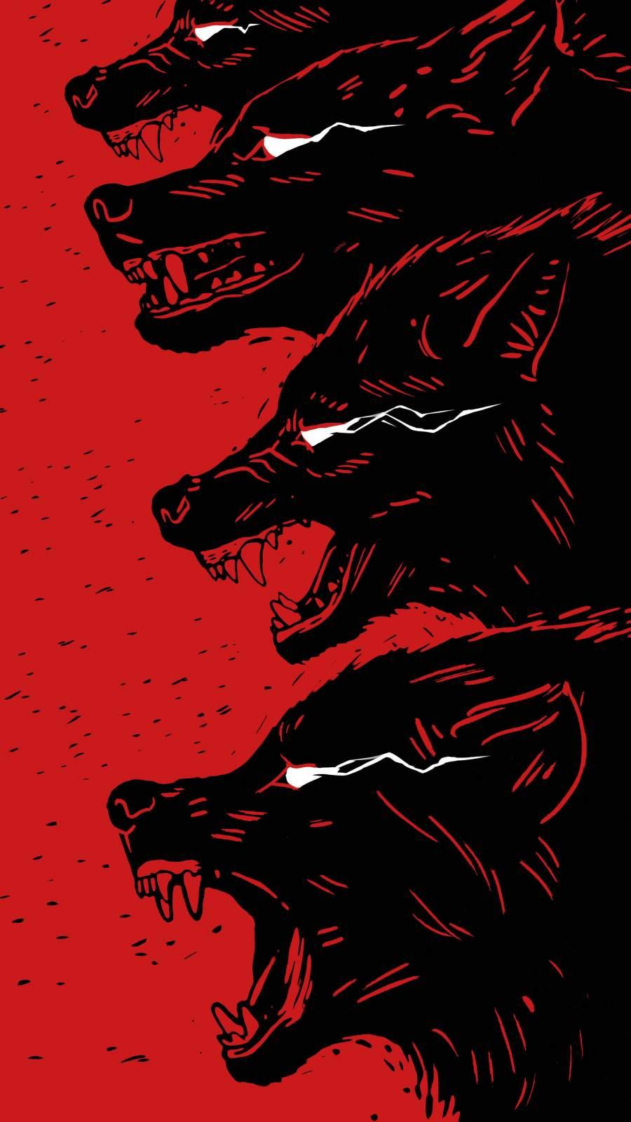 Wolf Artwork iPhone Wallpaper