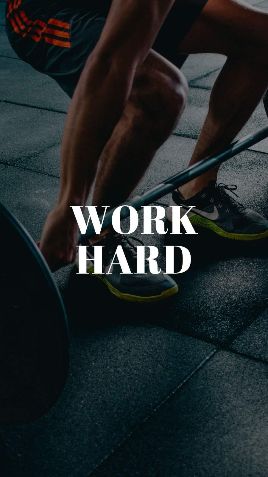 Work Hard iPhone Wallpaper
