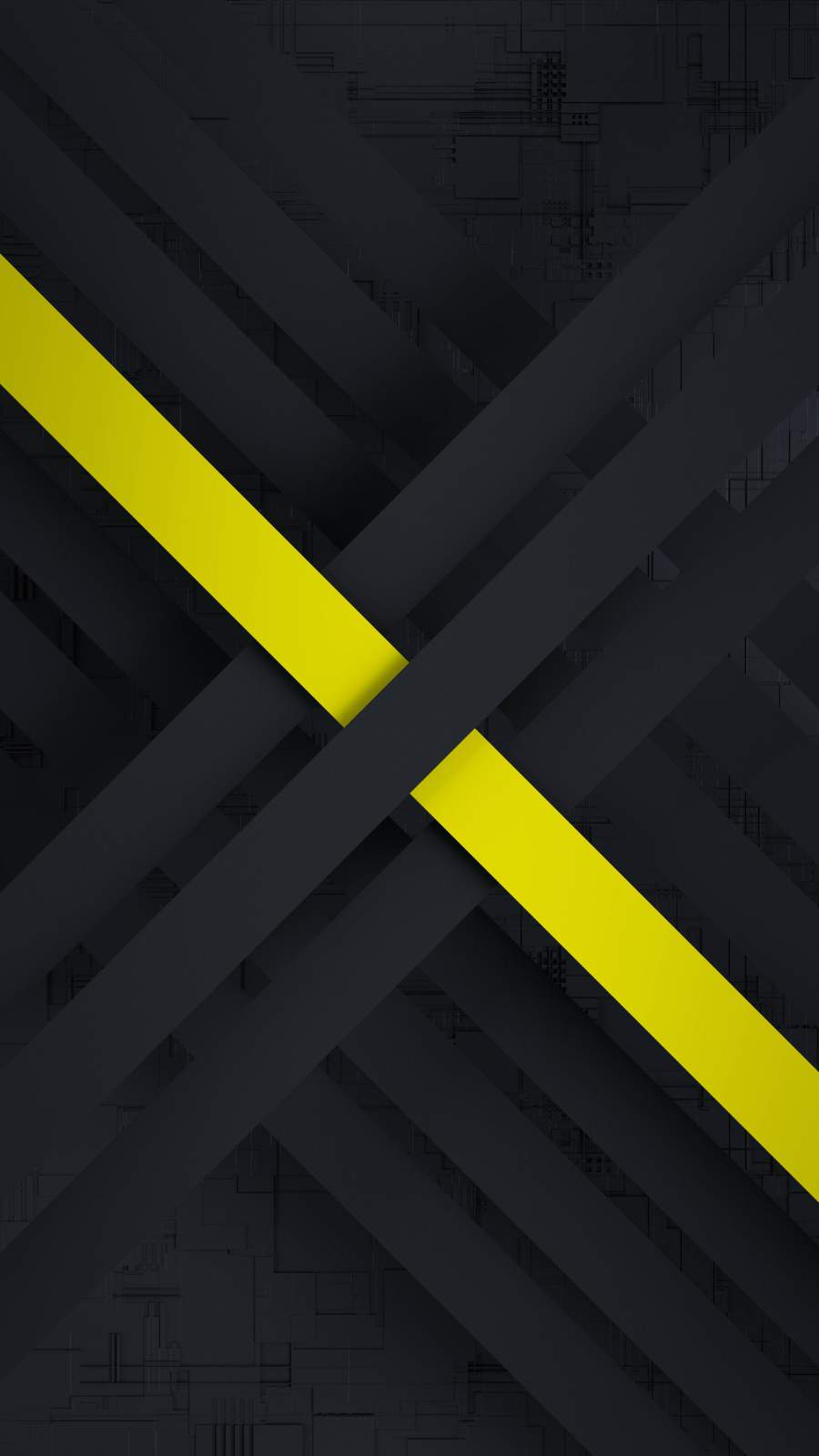 Yellow in the Dark iPhone Wallpaper