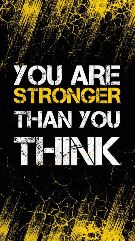You are Stronger iPhone Wallpaper