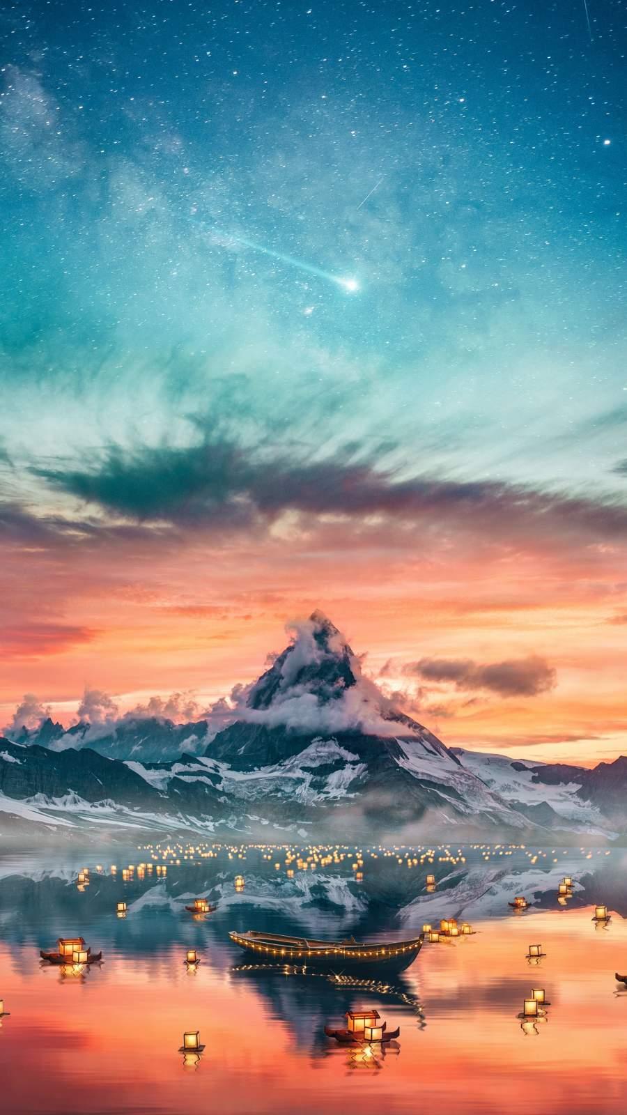Alps Mountain Lights