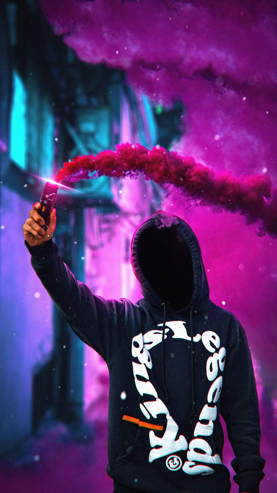 Anonymus Hoodie withl Smoke Bomb