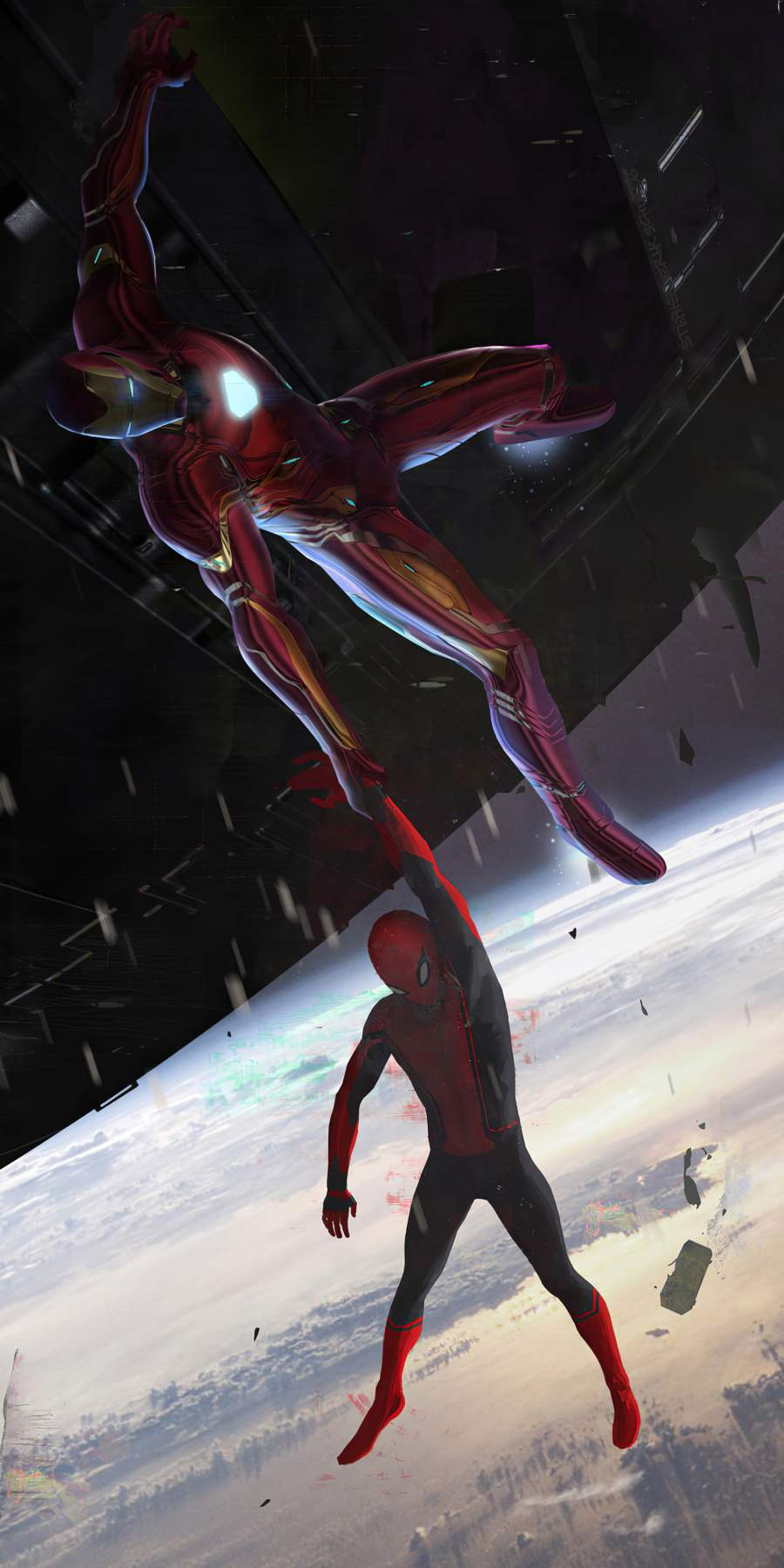 Iron Man Saving Spider Man