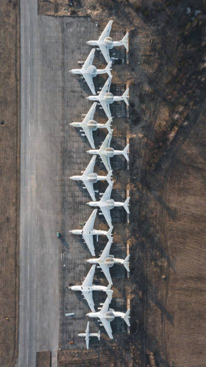 Aircraft Parking Aerial View