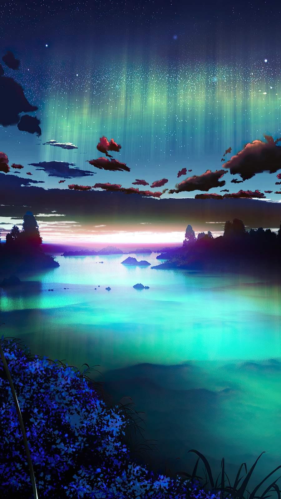 Auroa Emerald Green Sky