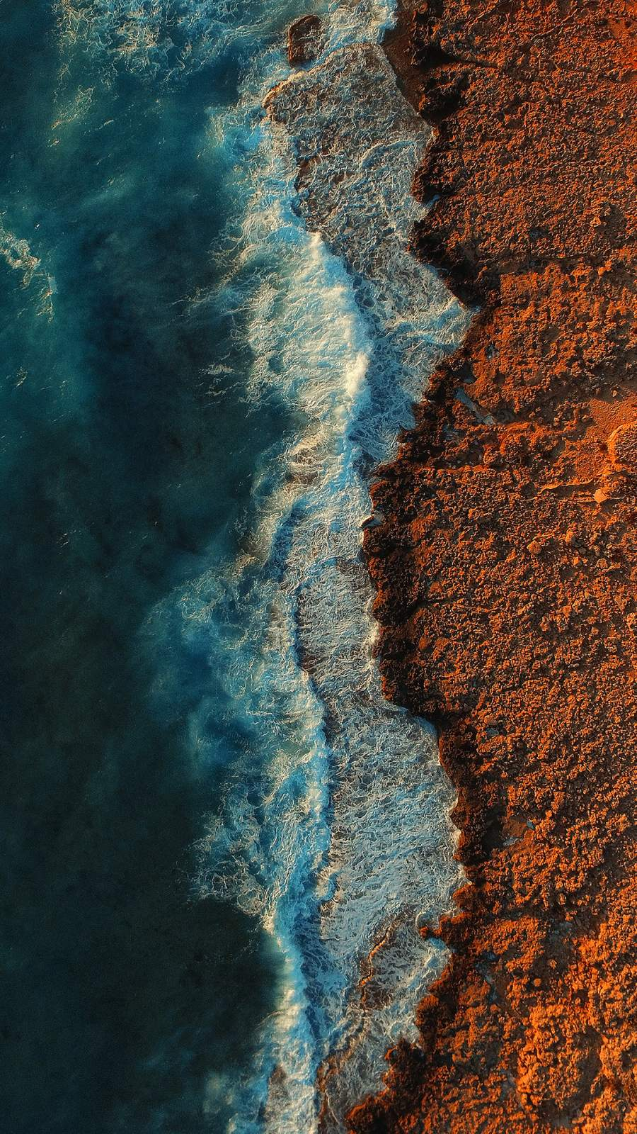 Beach Aerial View Wallpaper