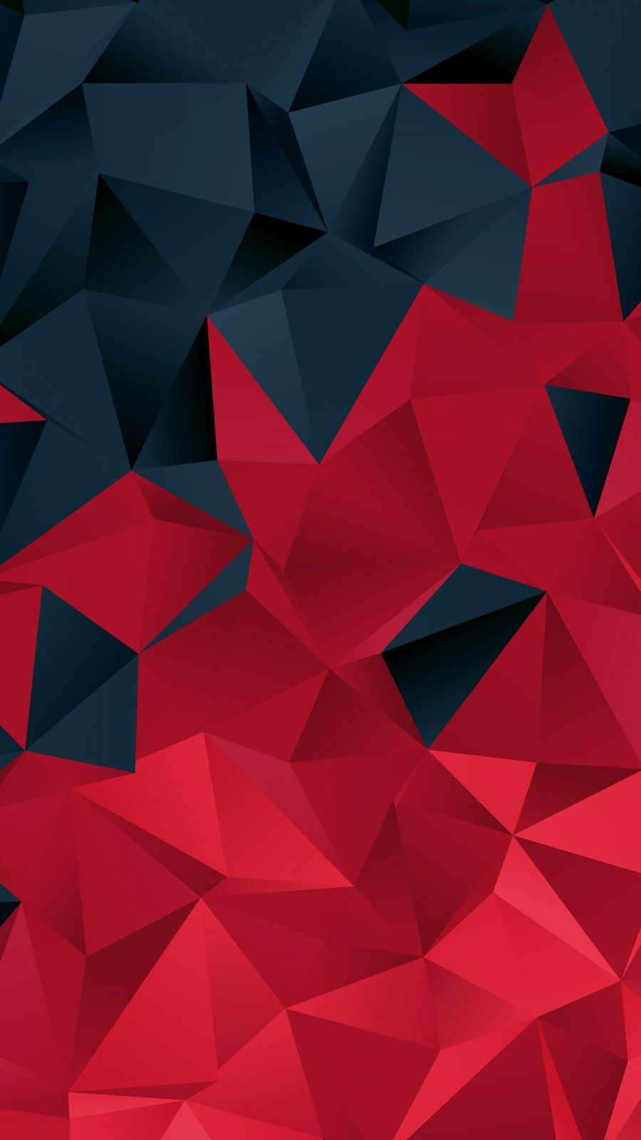 Black and Red Polygon