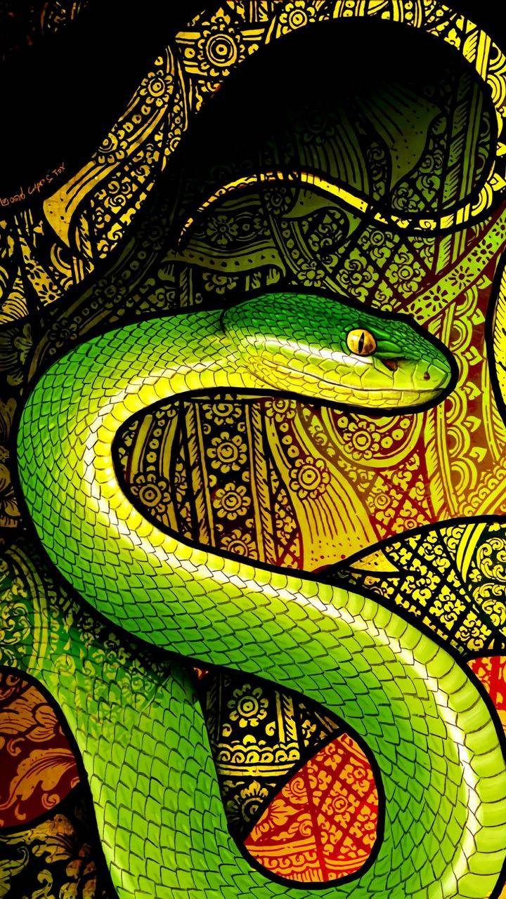 Green Python Snake Wallpaper
