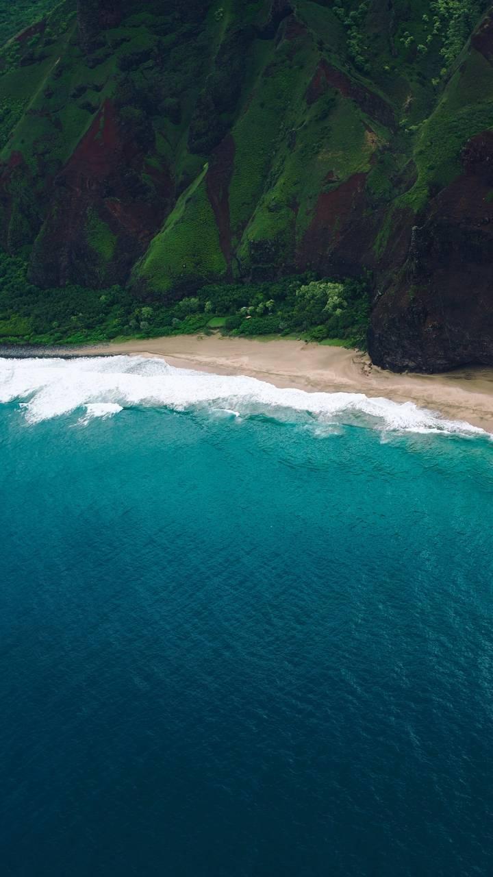 Hawaii Beach Aerial View